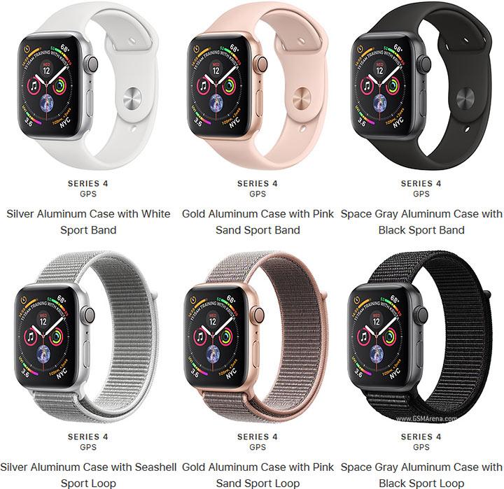 new concept 65864 08e22 Apple Watch Series 4 Aluminum pictures, official photos