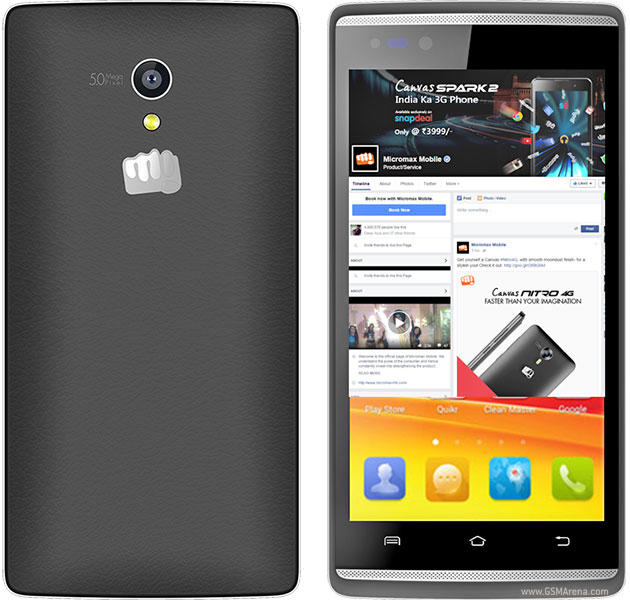 Micromax Canvas Fire 4G Q411 pictures, official photos